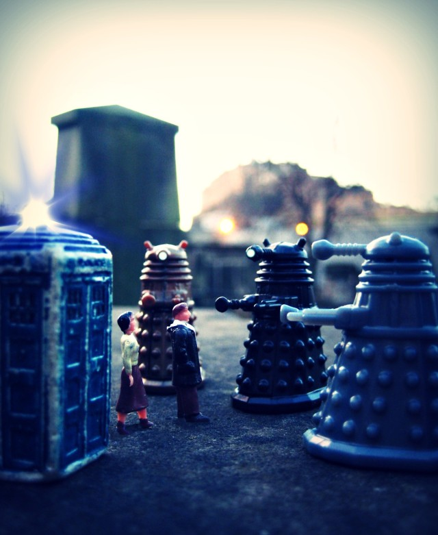 You are the Doctor! You are the enemy of the Daleks! You will be exterminated! Exterminate! Exterminate! Exterminate! Exterminate!