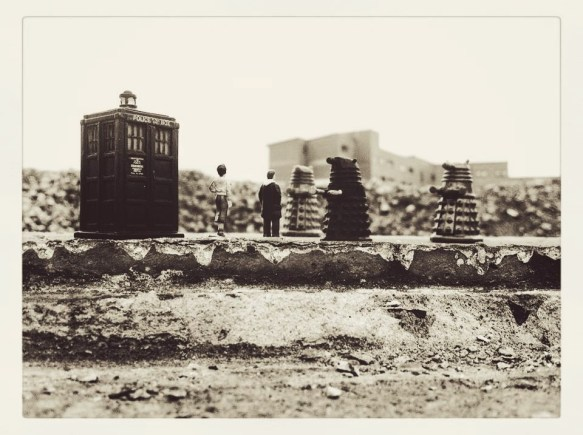 """""""Survivors of Glasgow, the Daleks are the masters of Earth. Surrender now and you will live. Those wishing to surrender must stand in the middle of the street, and obey orders received. Message ends."""""""